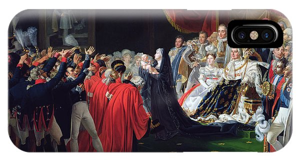 Duchess Of Berry Presenting The Duke Of Bordeaux To The People And The Army IPhone Case