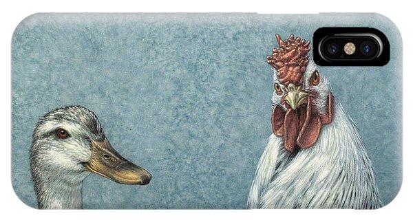 Chicken iPhone Case - Duck Chicken by James W Johnson