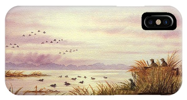 Shooting iPhone Case - Duck Hunting Companions by Bill Holkham