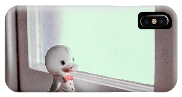 Duckie At The Window IPhone Case