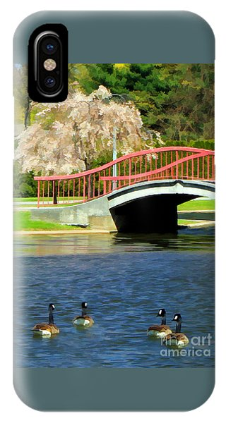 Springtime On The Lake IPhone Case