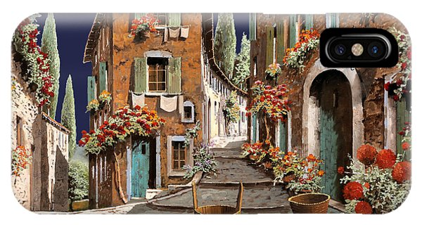 Basket iPhone Case - Due Strade Al Mattino by Guido Borelli