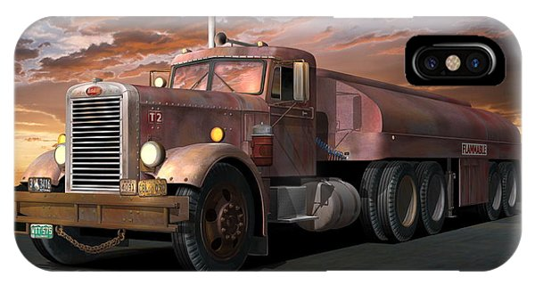 Stop Action iPhone Case - Duel Truck With Trailer by Stuart Swartz