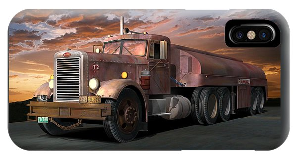 Duel Truck With Trailer IPhone Case
