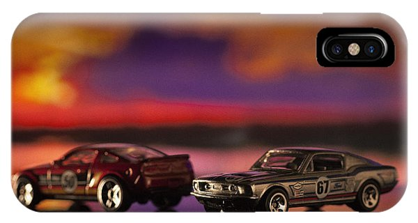 Dueling Mustangs IPhone Case