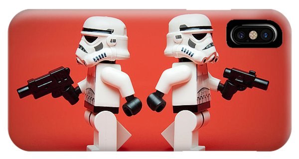 Figures iPhone Case - Dueling Troopers by Samuel Whitton