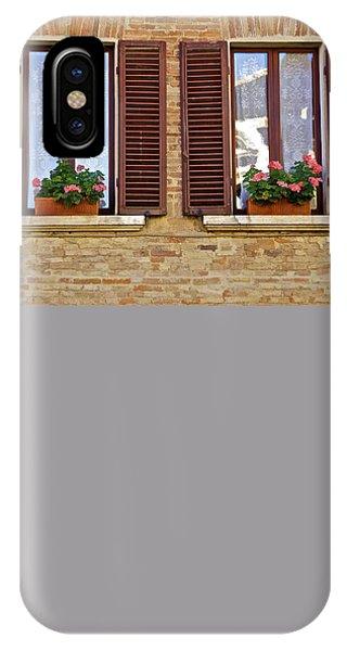 Dueling Windows Of Tuscany IPhone Case