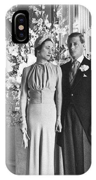 Duke And Duchess Of Windsor IPhone Case
