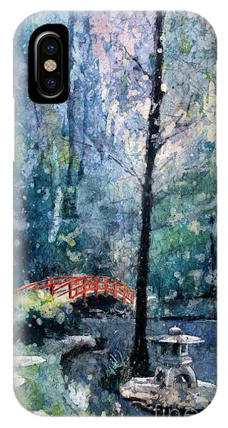 Duke Gardens Watercolor Batik IPhone Case