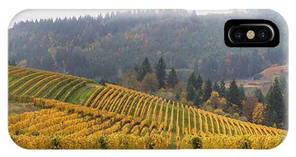 Dundee Oregon Vineyards Scenic Panorama IPhone Case