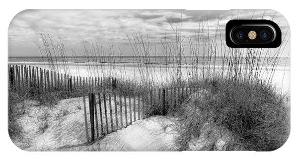 Tidal iPhone Case - Dune Fences by Debra and Dave Vanderlaan