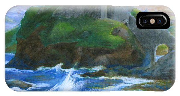 Samantha iPhone Case - Dunscaith Castle - Shadows Of The Past by Samantha Geernaert