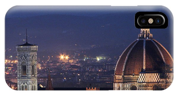 Duomo At Night Florence Italy IPhone Case
