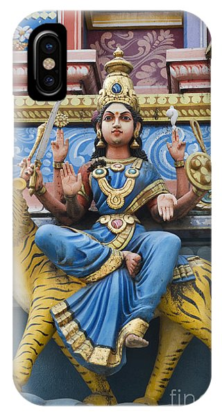 Durga Statue On Hindu Gopuram IPhone Case