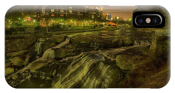 Dusk At Falls Park Greenville Sc Phone Case by Joel Corley