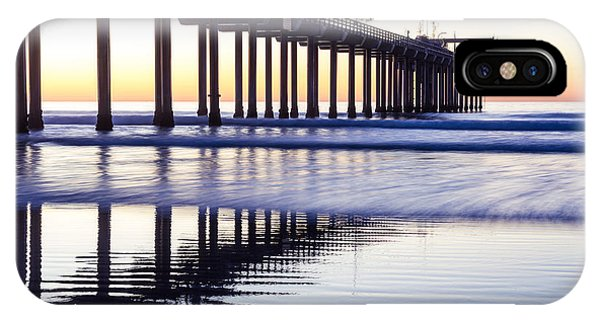 Dusk At Scripps Pier IPhone Case