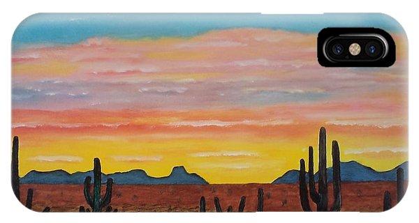 Dusk At Sonoran Desert Phone Case by Jorge Cristopulos
