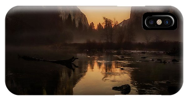 Dusk At Valley View Yosemite National Park IPhone Case