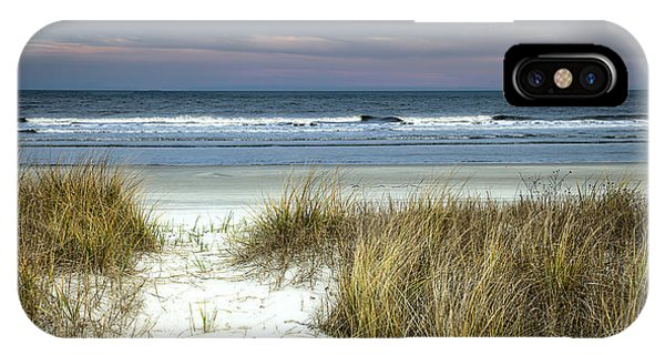 Distant iPhone Case - Dusk In The Dunes by Phill Doherty