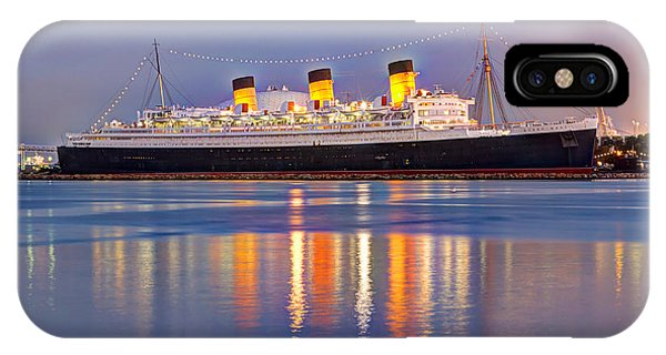 Dusk Light On The Queen Mary IPhone Case