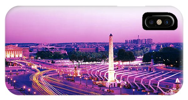 Concorde iPhone Case - Dusk Place De La Concorde Paris France by Panoramic Images