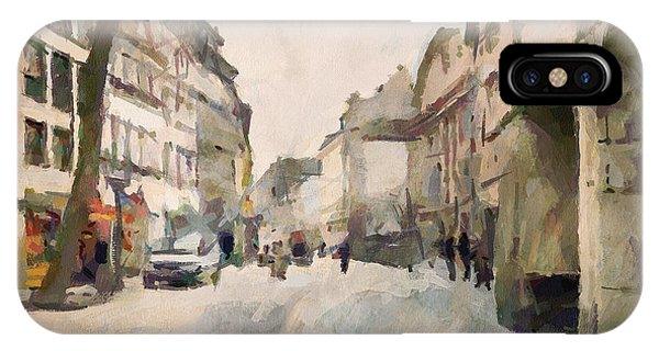 Dusseldorf Old Town Street 1 Phone Case by Yury Malkov