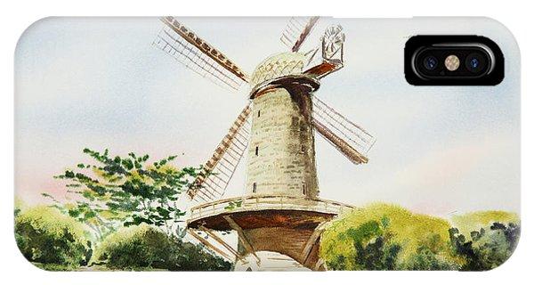 Dutch Windmill In San Francisco  IPhone Case