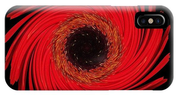 Dying Amaryllis Flower Mandala IPhone Case