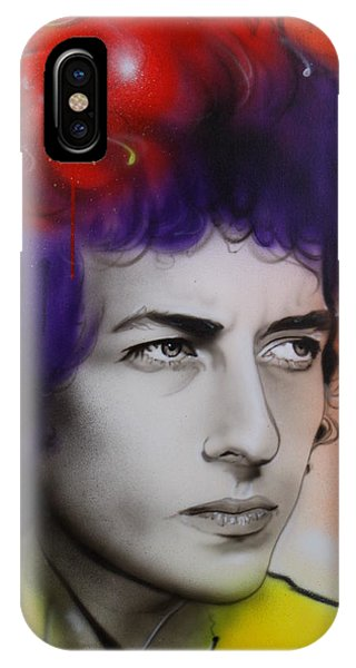 Bob Dylan iPhone Case - Dylan by Christian Chapman Art