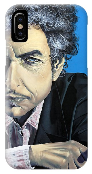 Bob Dylan iPhone Case - Dylan by Kelly Jade King