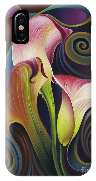 Dynamic Floral 4 Cala Lillies IPhone Case