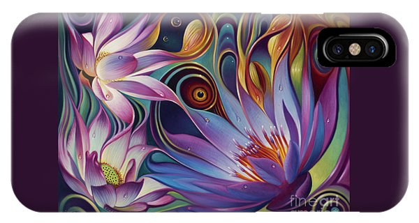 Dynamic Floral Fantasy IPhone Case