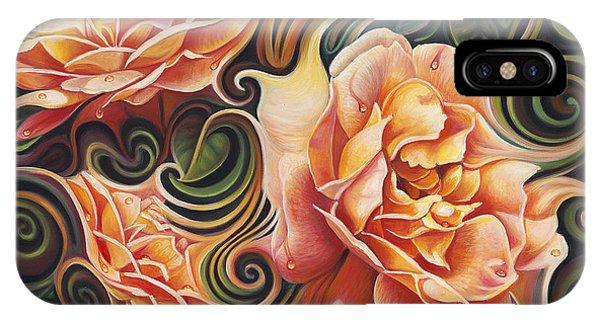 Dynamic Floral V  Roses IPhone Case