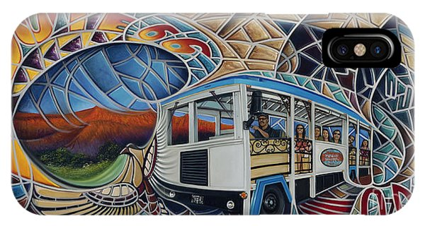 Trolley Car iPhone Case - Dynamic Route 66 II by Ricardo Chavez-Mendez