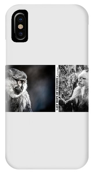 IPhone Case featuring the photograph diptych Last hope of Freedom  by Stwayne Keubrick