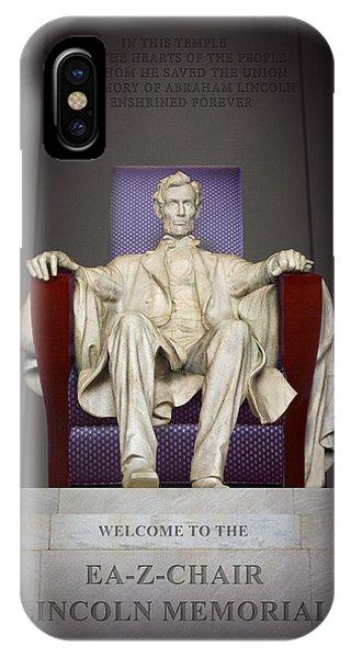 Lincoln Memorial iPhone Case - Ea-z-chair Lincoln Memorial 2 by Mike McGlothlen