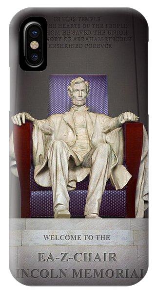 Ea-z-chair Lincoln Memorial 2 IPhone Case