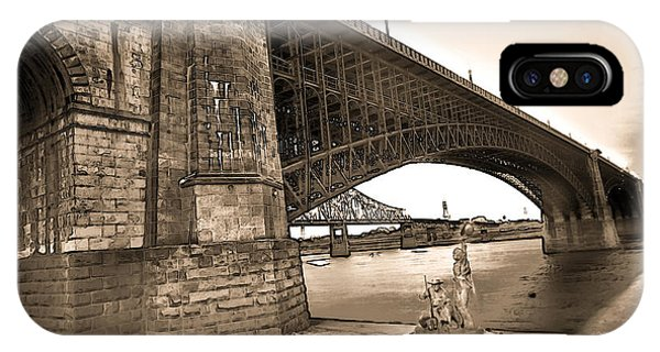 Eads Bridge Sepia IPhone Case