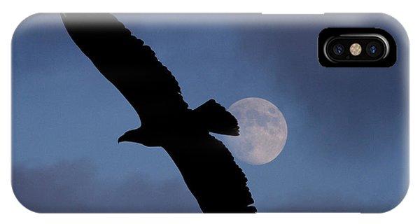 Eagle After Sundown IPhone Case