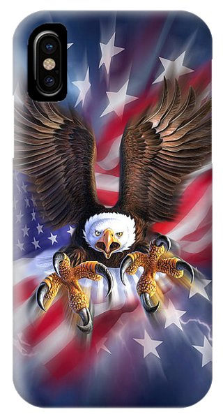 Usa iPhone Case - Eagle Burst by Jerry LoFaro