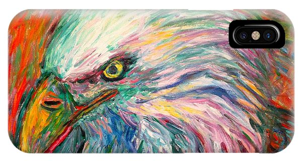 iPhone Case - Eagle Fire by Kendall Kessler