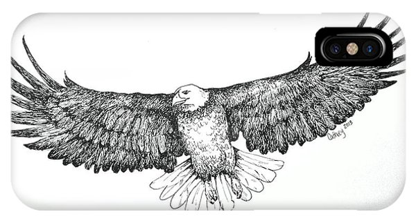 Eagle In Flight IPhone Case