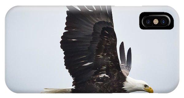 Eagle In Flight Phone Case by Ricky L Jones