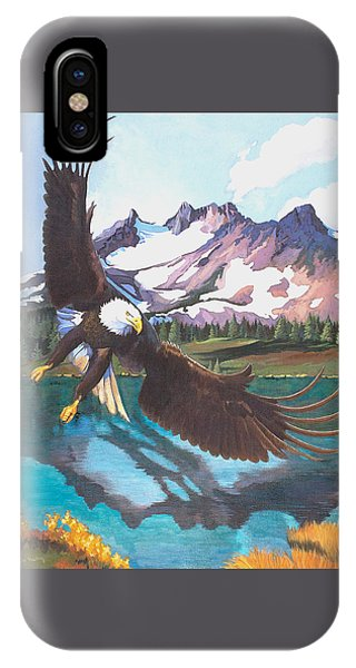 Eagle Oregon Lake IPhone Case