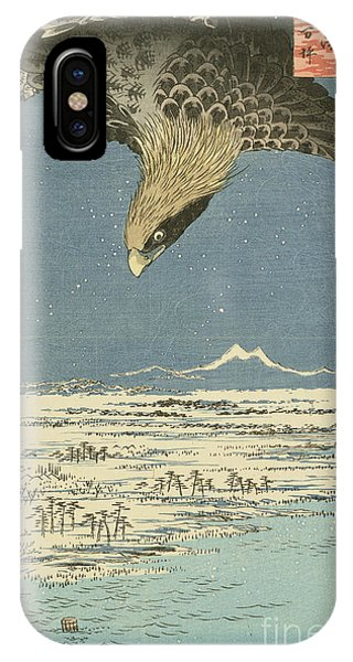 Eagle Over One Hundred Thousand Acre Plain At Susaki IPhone Case