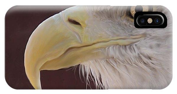 Eagle Portrait Freehand IPhone Case