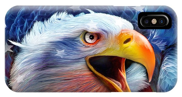 Eagle Red White Blue 2 IPhone Case