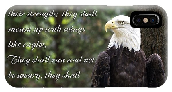 Eagle Scripture Isaiah IPhone Case