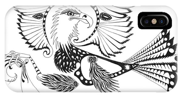 Eagle With A Banner IPhone Case