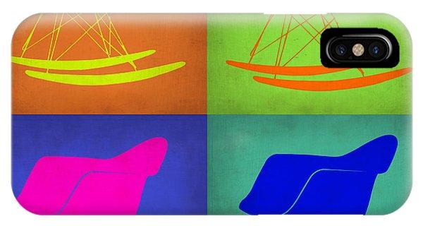 Chair iPhone Case - Eames Rocking Chair Pop Art 1 by Naxart Studio